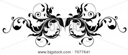 black flower pattern