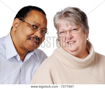 Mixed Race Senior Couple