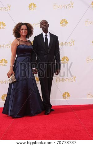 LOS ANGELES - AUG 25:  Don Cheadle at the 2014 Primetime Emmy Awards - Arrivals at Nokia Theater at LA Live on August 25, 2014 in Los Angeles, CA