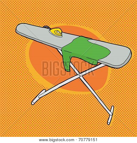 Shirt On Ironing Board