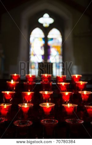 Candles In Church.