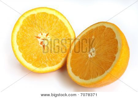 Navel Orange Cut In Half