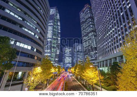 Tokyo, Japan shinjuku cityscape.
