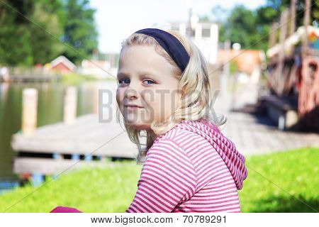 Portrait Of 8 Year Old Girl
