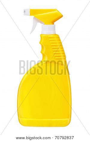 Yellow plastic dispenser