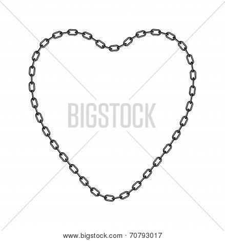 Dark chain in shape of heart