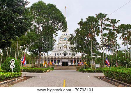 White Temple In Public Temple