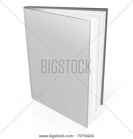 3d book with white blank covers isolated on white