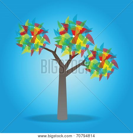 Tree With Pinwheel