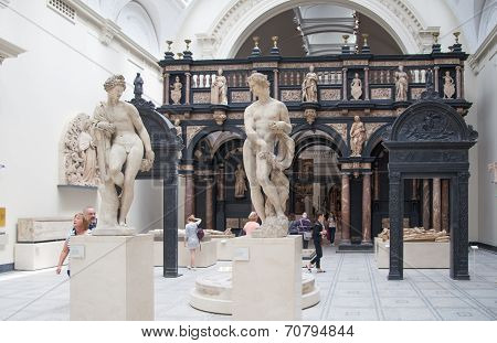 LONDON, UK - AUGUST 24, 2014:  Victoria and Albert Museum.