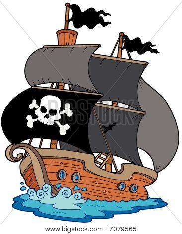 Pirate sailboat