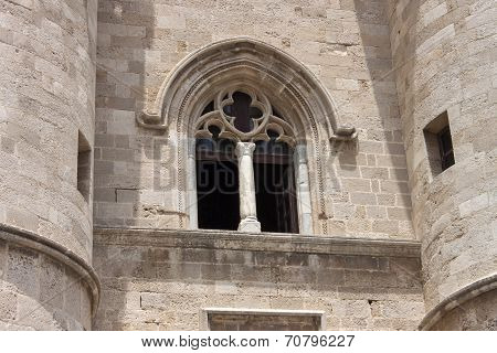 ancient mullioned window