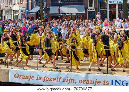 Ing Bank Boat ?? Amsterdam Canal Parade 2014