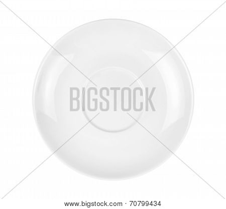 Empty White Plate, Isolated On White