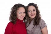 image of identical twin girls  - Siblings - JPG