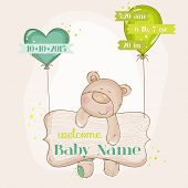 picture of baby bear  - Baby Bear with Balloons  - JPG
