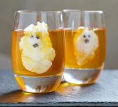 stock photo of jello  - Ghost Jello Treats for Halloween - JPG