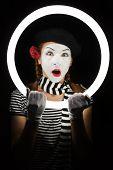 pic of clown rose  - Mime portrait - JPG