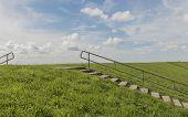 image of dike  - Dike on the isle of Texel near Oudeschild - JPG