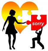picture of apologize  - Man apologizes - JPG