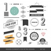 image of anchor  - Hipster style infographics elements set for retro design - JPG