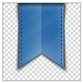 foto of tassels  - Blue bookmark decoration ribbon on transparent background - JPG
