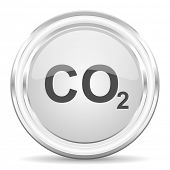 stock photo of carbon-dioxide  - carbon dioxide internet icon - JPG