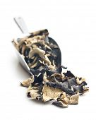 stock photo of judas  - Dried chinese black fungus - JPG