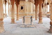 image of jainism  - Bada Bagh Cenotaph in Jaisalmer - JPG