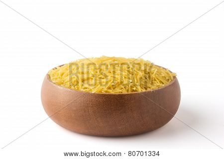 Vermicelli In A Wooden Bowl