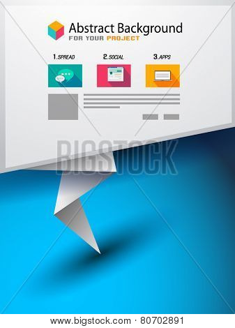 Origami Flat style flyer design or Brochure template for your business project, Flyer Design, Web Templates. Brochure Designs, Technology Backgrounds. Mobile Technologies, Infographic