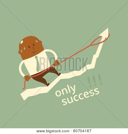 Business concept - only success