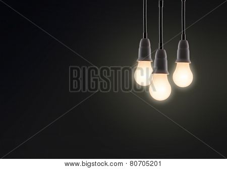 light bulb isolated on a black bakground