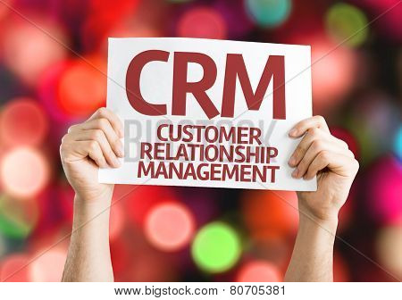 CRM card with colorful background with defocused lights