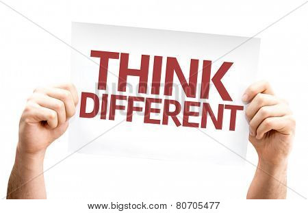 Think Different card isolated on white background