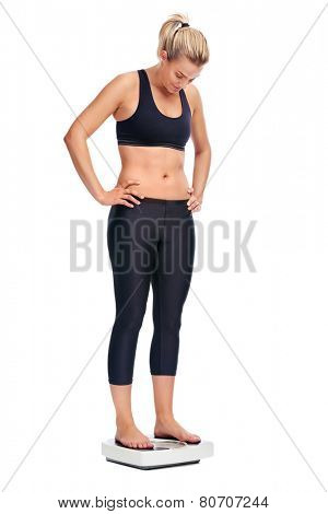 Women cheering for achieving her weightloss goal