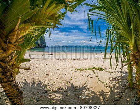 The tropical beach of Railay beach thailand