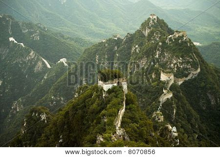 Jiankou great Wall China steil aufragenden Bergen