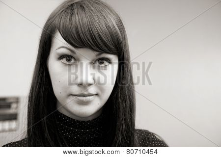 portrait of attractive woman. studio  shot