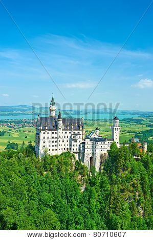 The castle of Neuschwanstein in Bavaria, Germany.