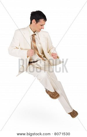 Man In Dynamic Pose - High Jump