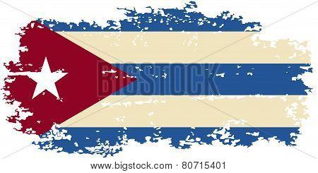 Cuban grunge flag. Vector illustration.