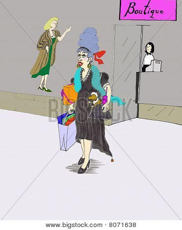 City Lady Buying Things,  Shopping