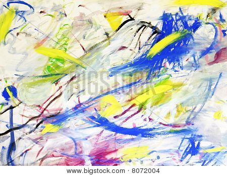 Happy Chaos Abstract Background
