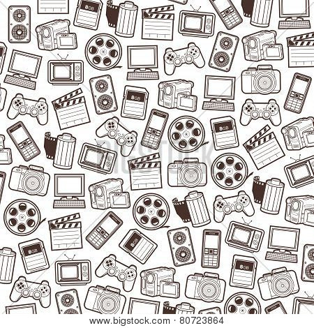 Photo, video seamless pattern