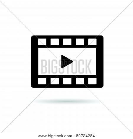 Film Tape Play Vector Illustration