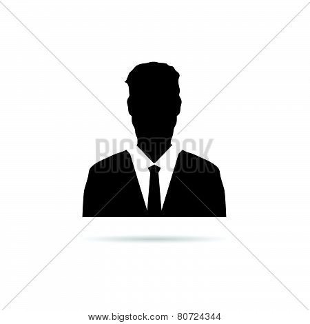 Man Vector Silhouette With Tie