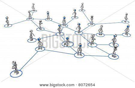 Blue Screen Robot, Line Link Network