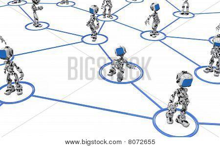 Blue Screen Robot, Line Links