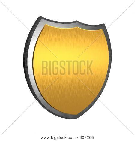 Golden 3d shield